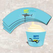 Shark and Scuba Cupcake Wraps