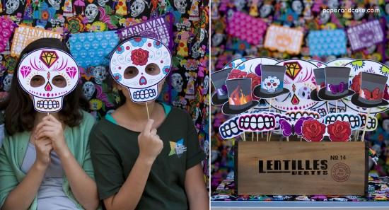 Fiesta Cinco de Mayo Dia de los Muertos printable Photo Booth Props Mustaches on a stick