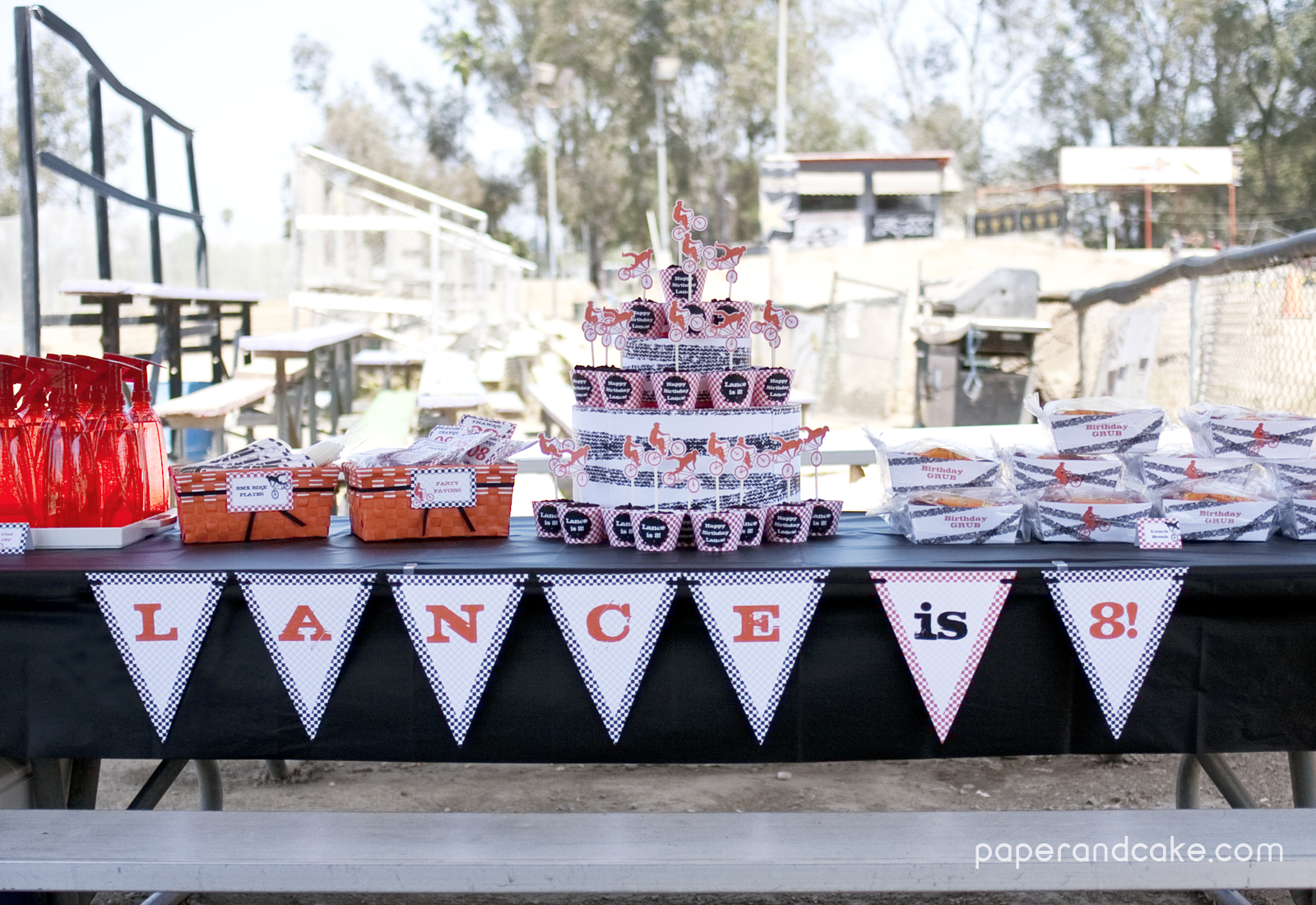 Bmx Dirt Bike Printable Birthday Party - Paper and Cake ...