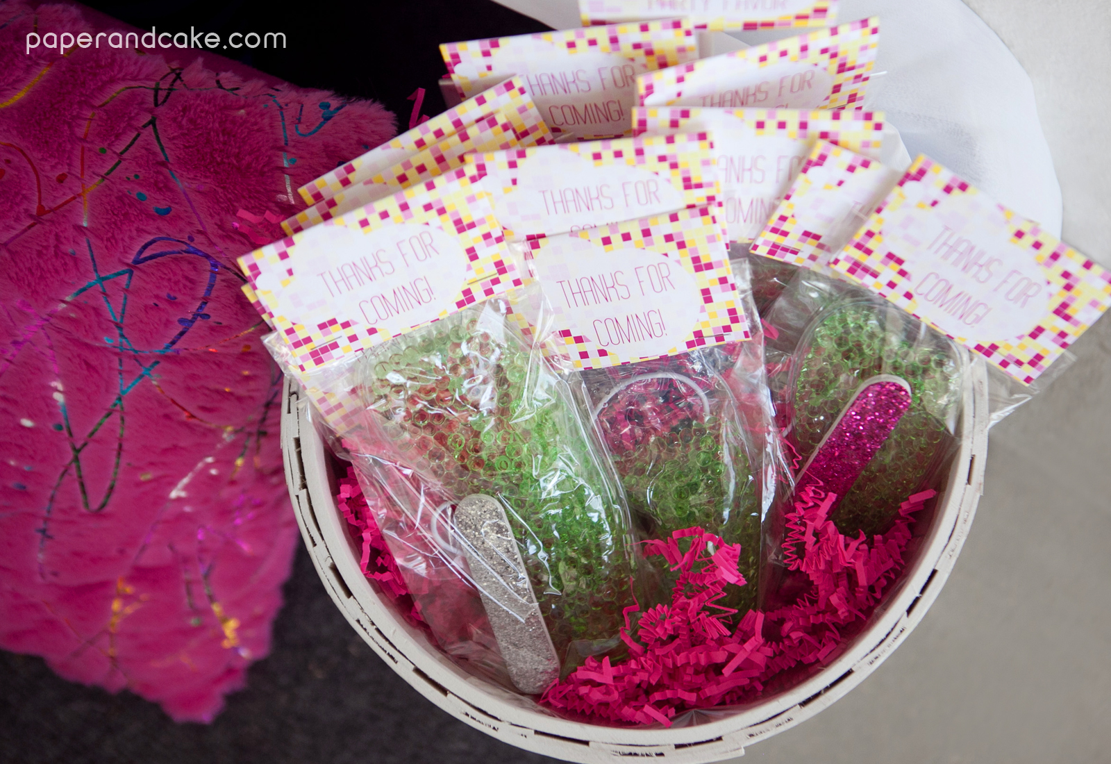 P Amp C Real Life Party Modern Spa Birthday Party Paper And