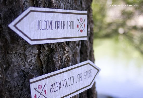 Outdoorsman Printable Party Invitation and Decorations