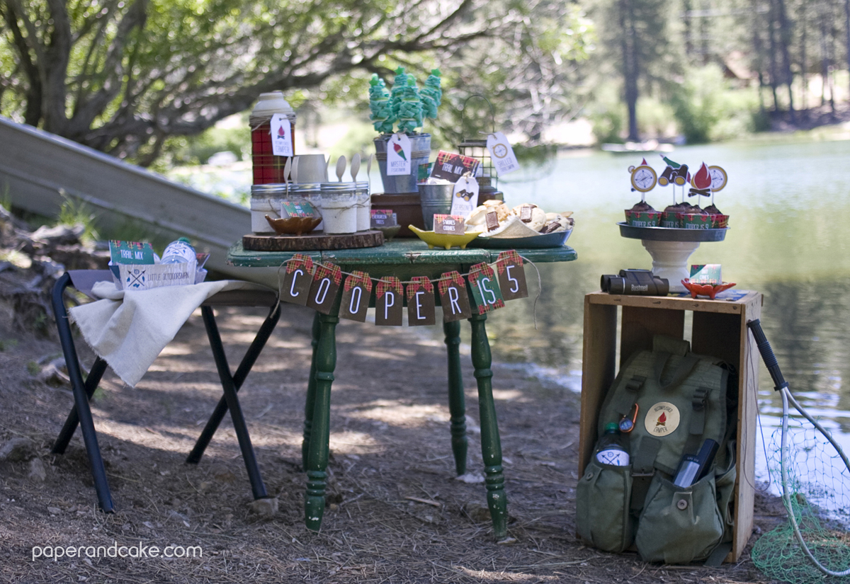Outdoorsman Printable Birthday Party Paper And Cake