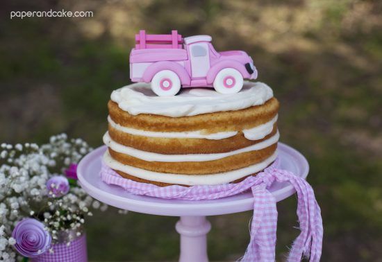 Pink Vintage Pickup Truck Printable Party