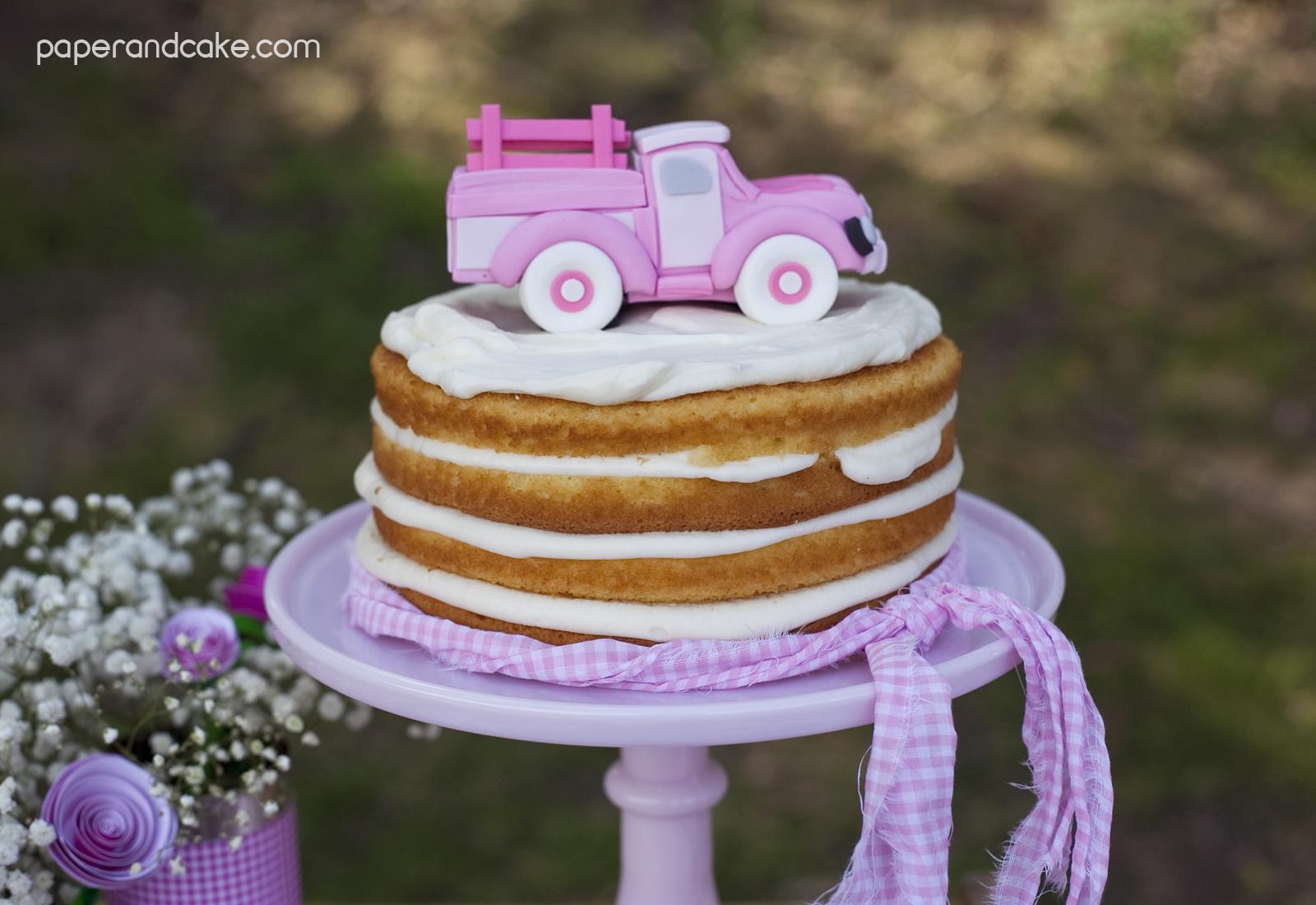 Pick Up Truck Cake Topper