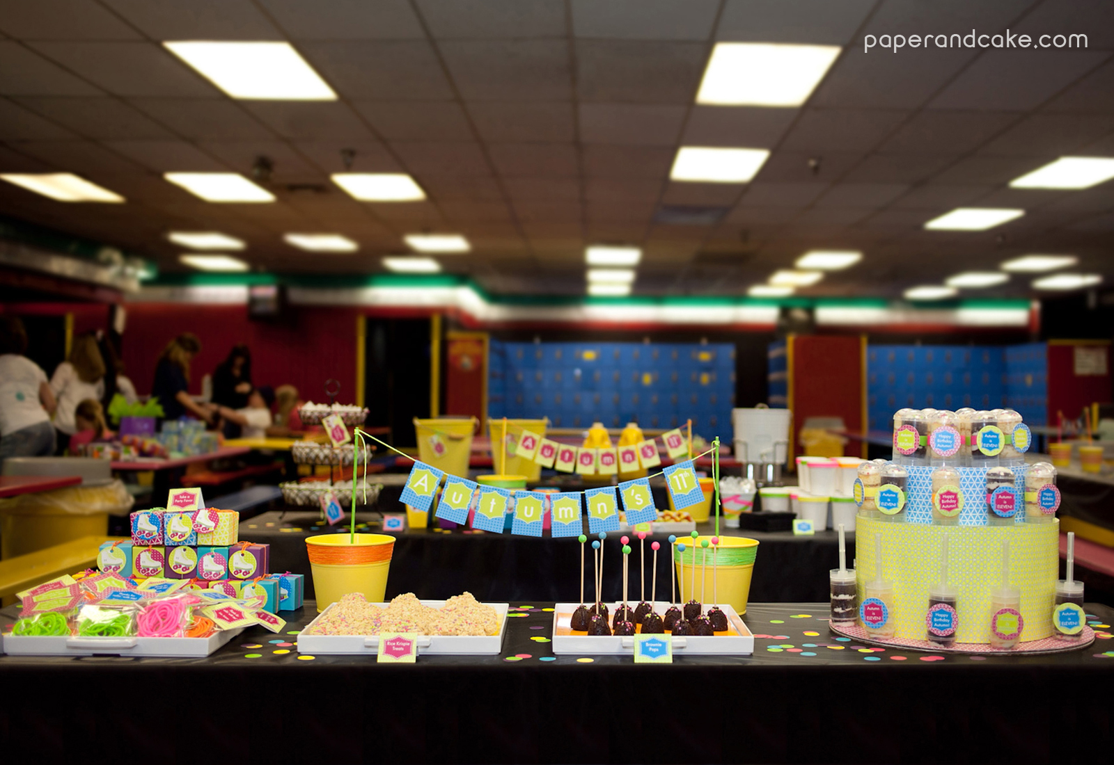 Neon Roller Skate Party Real Life Party Paper And Cake