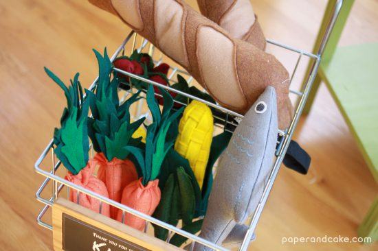 grocery store party & playdate felt pretend food