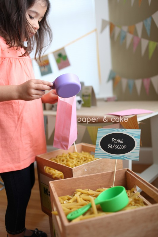 grocery store party & playdate by paper & cake
