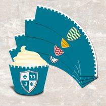 Medieval Knight Cupcake Wraps