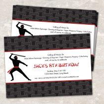 Ninja Karate Invitations