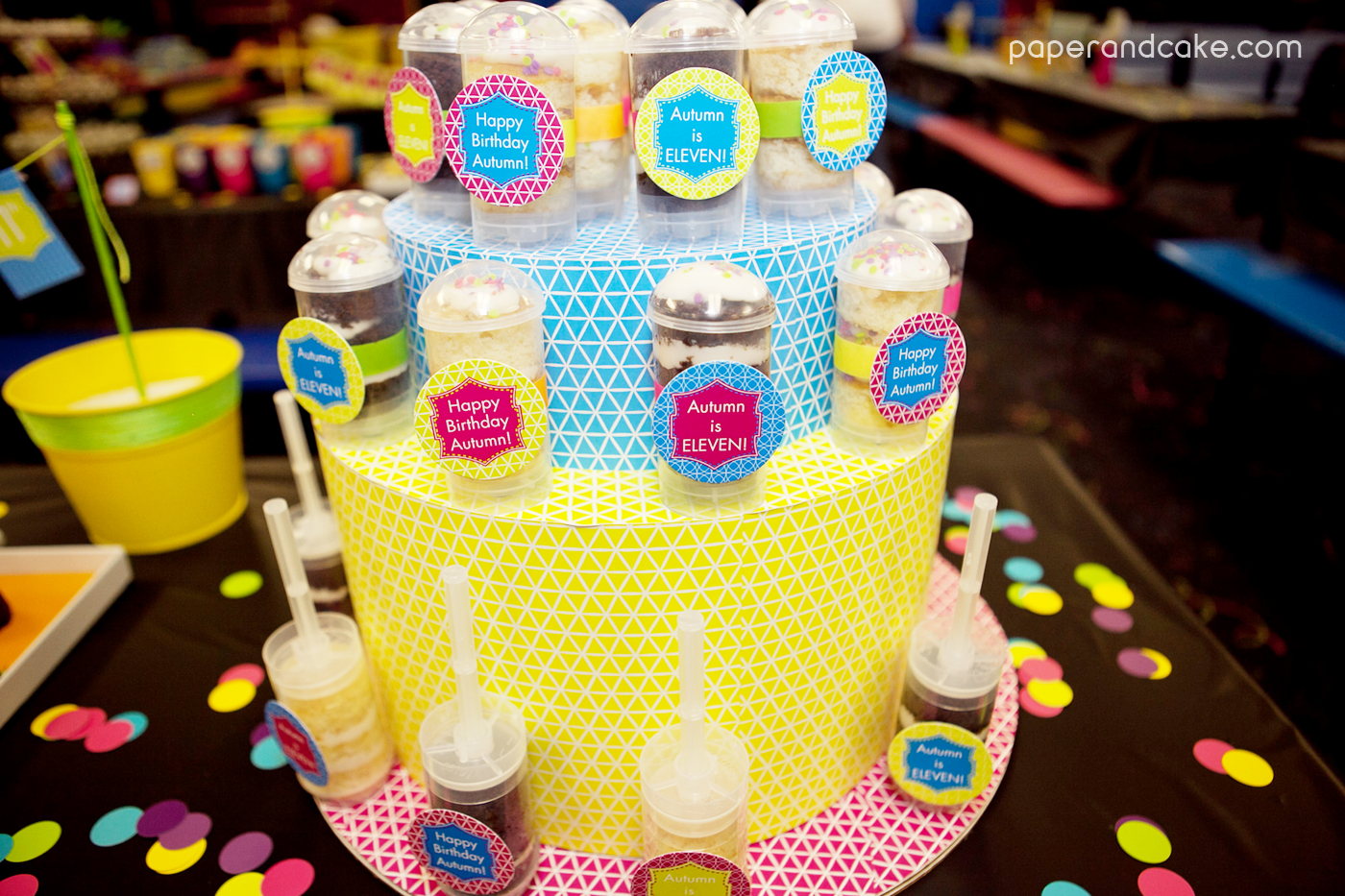 Neon Roller Skate Party Real Life Party Paper And Cake Paper And