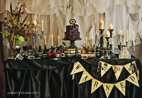 New Party Haunted Pirate Halloween Paper And Cake Paper