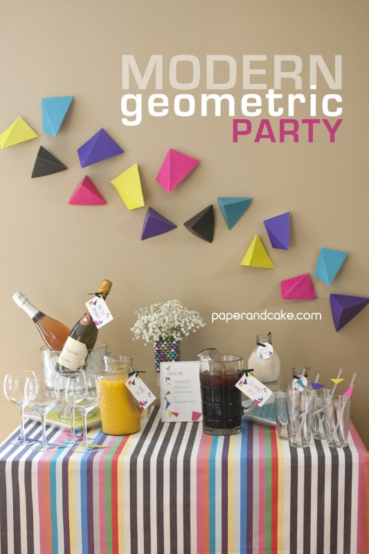 geometric party decorations