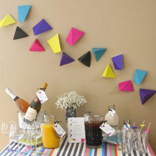 Geometric Triangular Printable Party