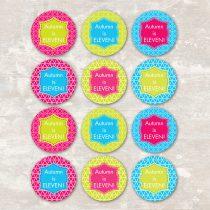 Neon Roller Skate Cupcake Picks