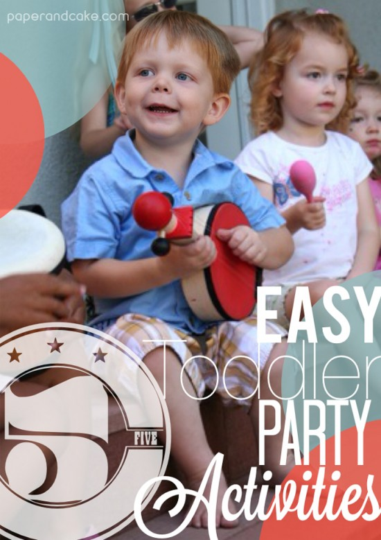 Toddler Birthday Party activity ideas