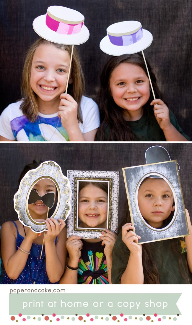 Victorian printable photo booth props