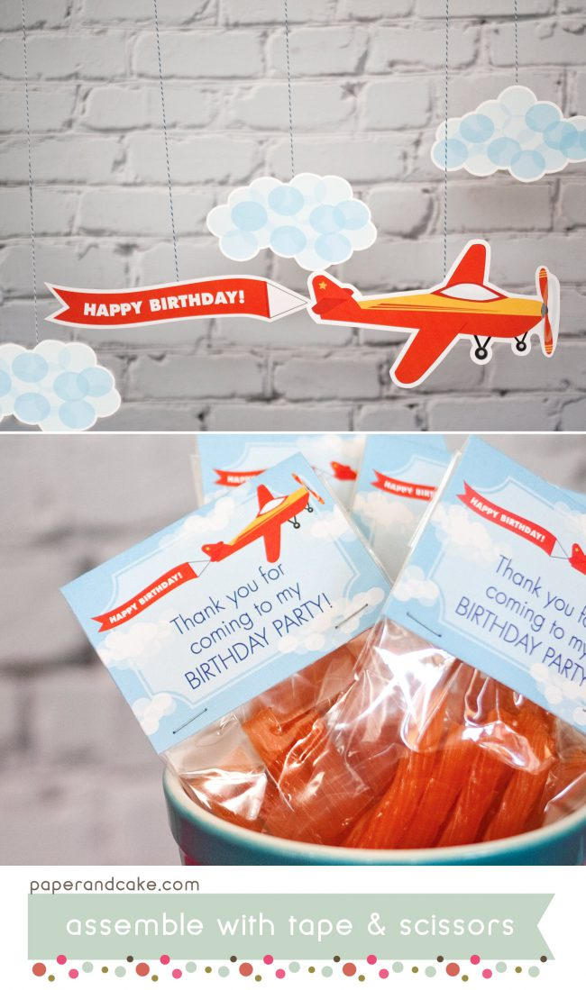 airplane printable birthday party