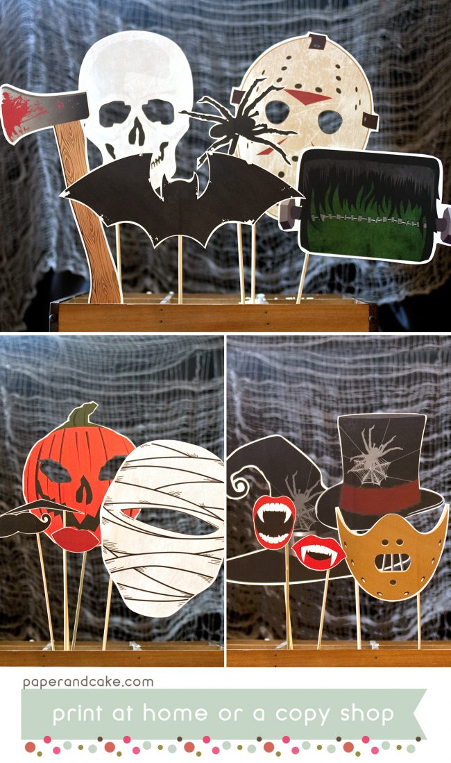 haunted horror movie photo booth props