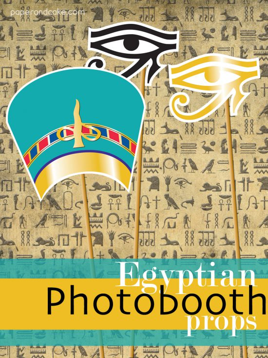EGYPTIAN photo booth props halloween costume party theme printable by paper and cake king tut