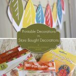 Paper & Cake Printable Decorations vs. Store Bought- getting your money