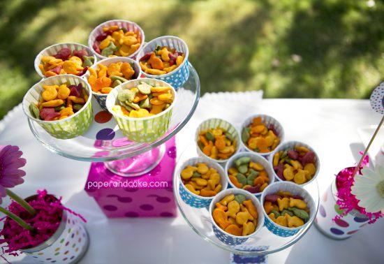 Paper and Cake Printable colorful polkda dot birthday party goldfish