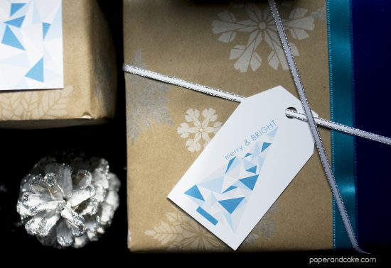 paper and cake holiday easy and moder gift tag geometric