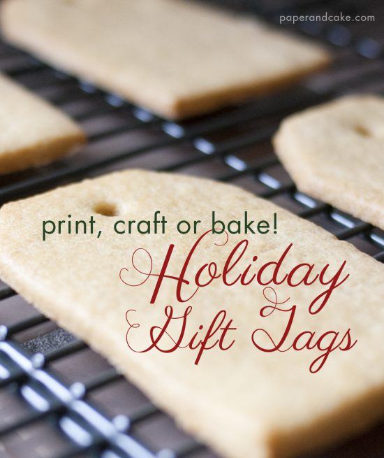 paper and cake holiday easy and modern gift tag cookie garland