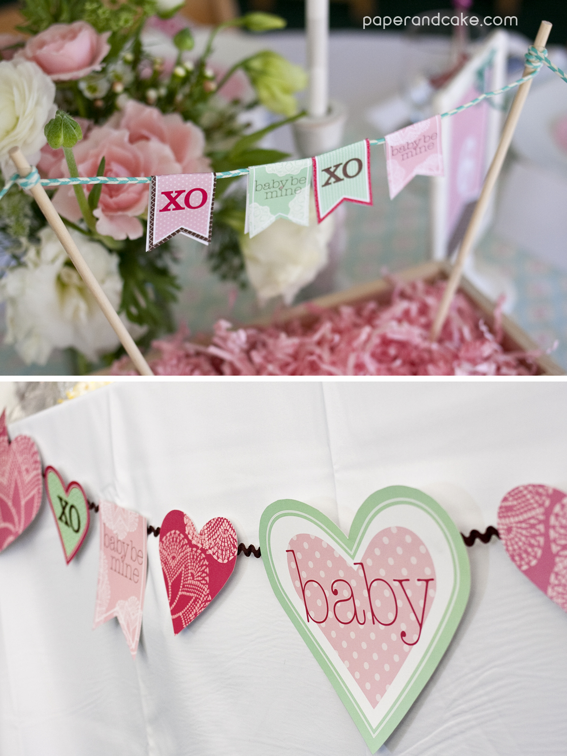 Hugs And Kisses Printable Party Paper And Cake Paper And