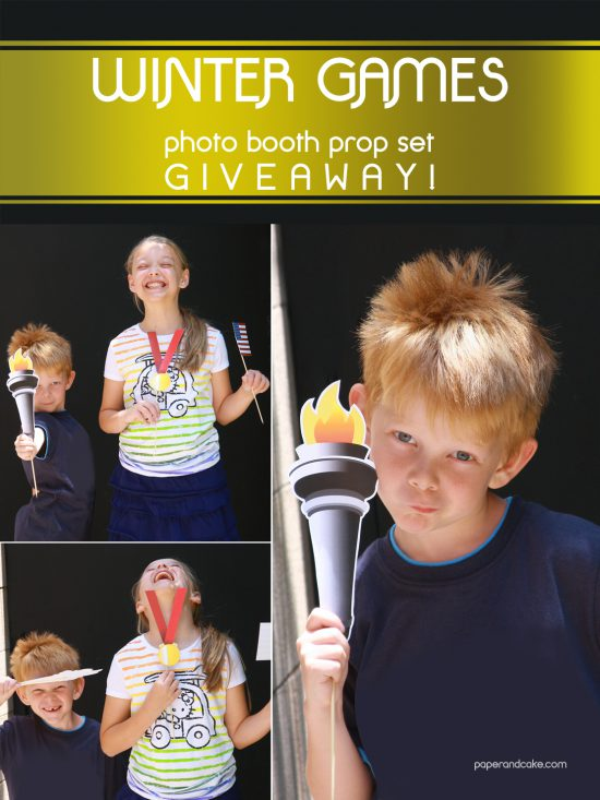 Paper & Cake Winter Games Photo Booth Props Giveaway
