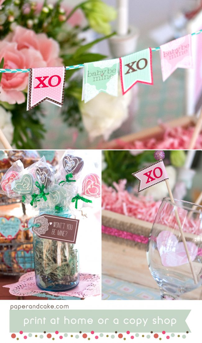 hugs and kisses printable party