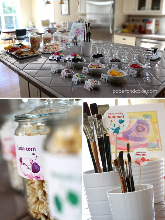 Paper & Cake | Art Party Printable Birthday