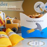 paper and cake printable under construction birthday party