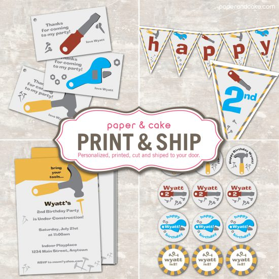 party spotlight: construction birthday party - Paper and Cake Paper ...
