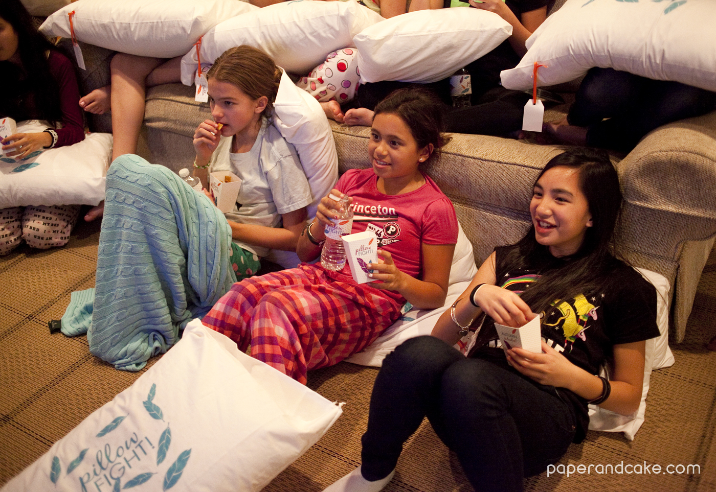 Pillow Fight Sleepover Real Life Party Paper And Cake
