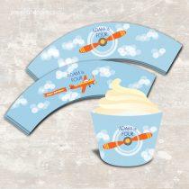 Airplane Cupcake Wraps