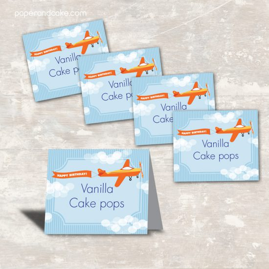 Airplane Party Food Labels