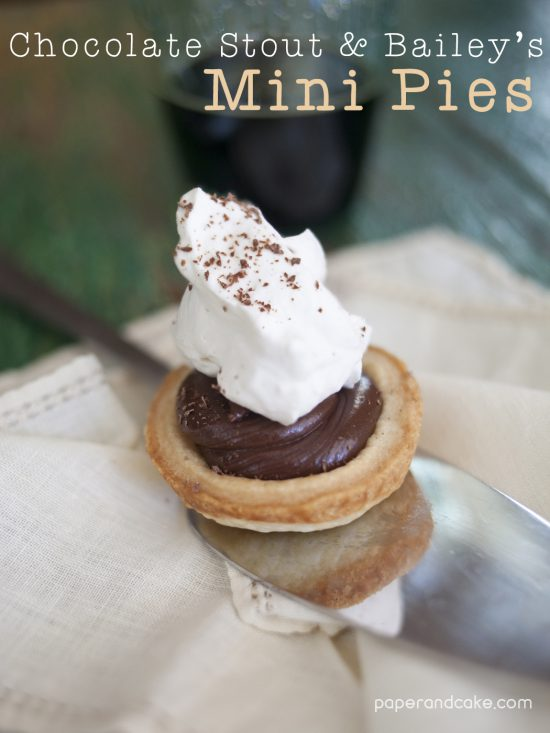chocolate stout mini pies by Paper & Cake