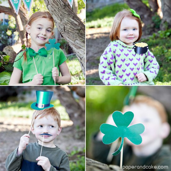 st. paddy's photo props from Paper & Cake
