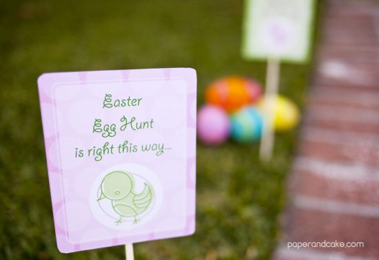 Easter Printable lawn signs