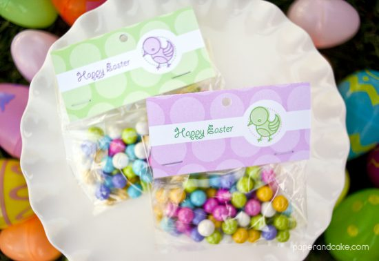 Easter Printable favor bag toppers