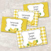 Lemonade Jar Labels