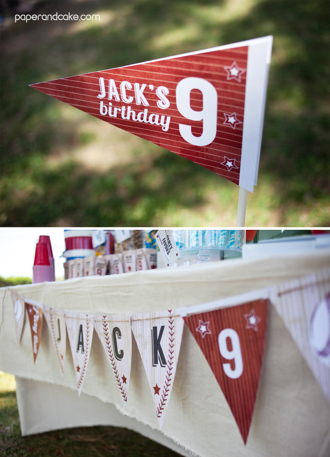 Baseball Printable Birthday Party Paper And Cake Paper