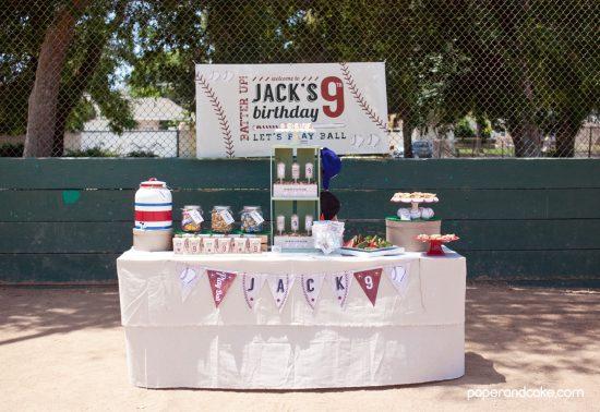 baseball birthday party printable invitation