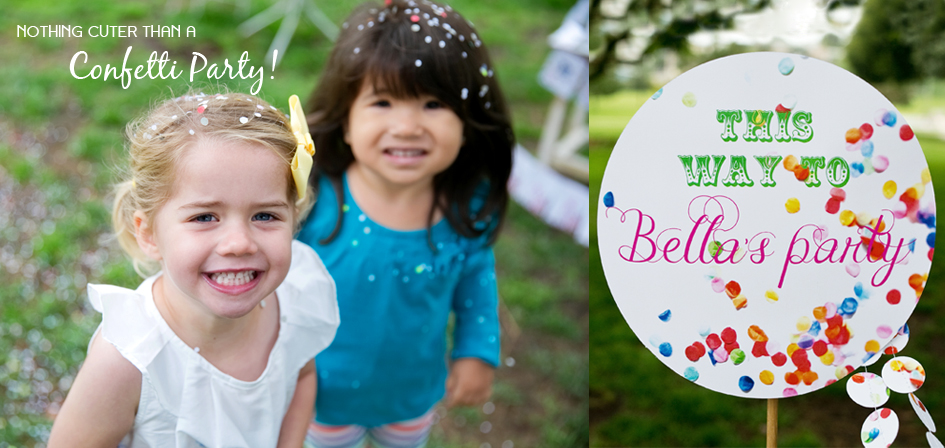 Printable Confetti Birthday Decorations by Paper and Cake