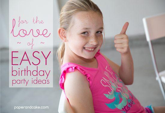 easy birthday party ideas