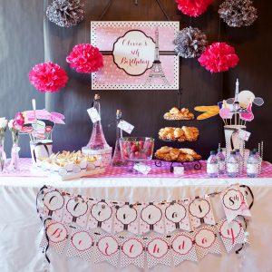 Paris Printable Birthday Party