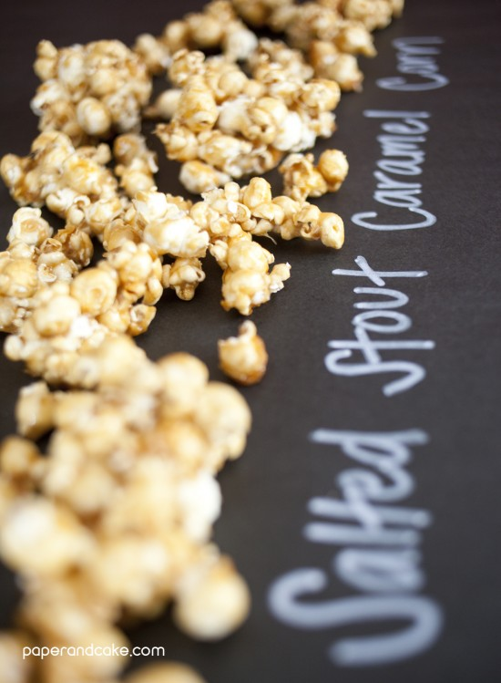salted stout caramel corn recipe from paper & cake