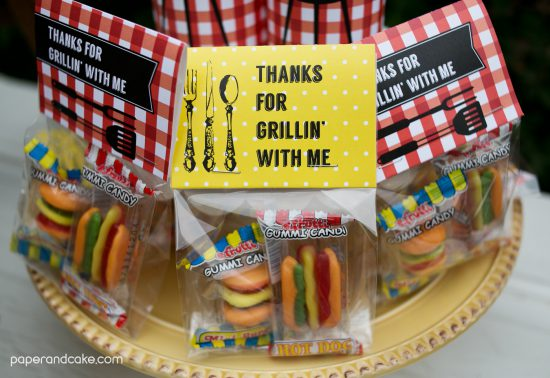 BBQ Printable Party invitations and decorations