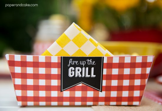 bbq printable party invitation and decorations