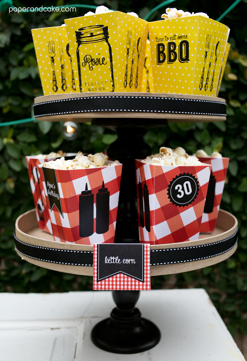 BBQ Printable Party - Paper and Cake Paper and Cake